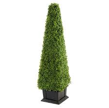 artificial plant boxwood box tree bush tower topiary 1 2m