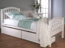 White Wood Single Bed Frame Single White Wooden Storage Bed With Two Drawers 3ft Single