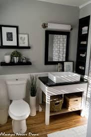 bathroom dark brown vanity cabinets white waterfall shower dark