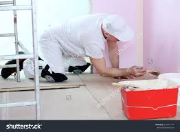 Cleaning Painted Walls by Finisher White Clothes Brush Hand Painted Stock Photo 274451147