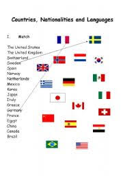 intermediate esl worksheets countries nationalities and languages
