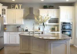 decorating ideas for kitchen walls grey wall color with classic white cabinet using marble countertop