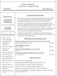 Property Management Resume Samples by Estate Appraiser Resume Example