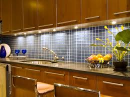 blue glass tile design with classic pendant lighting also simple