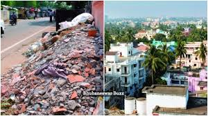 are you piling up construction material on roads in bhubaneswar