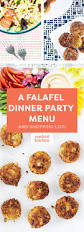 the game plan a falafel dinner party confetti kitchen