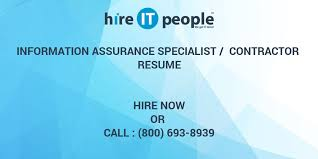 Army 25b Resume Information Assurance Specialist Contractor Resume Hire It