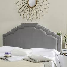 alexia pewter headboard silver nail heads headboards furniture