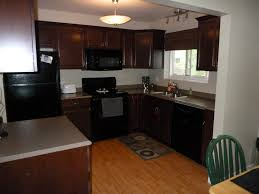 what color granite goes with oak cabinets and black appliances