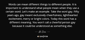 ali sina quote words can different things to different
