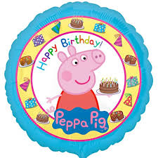 birthday balloon deliveries peppa pig happy birthday balloon delivered inflated in uk