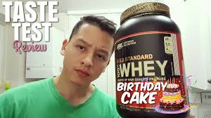optimum nutrition gold standard 100 whey protein birthday cake