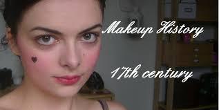 makeup history 17th century youtube