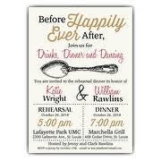 bridal dinner invitations invitations rehearsal dinner cimvitation