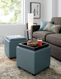 furniture rectangular leather storage ottoman ideas for living