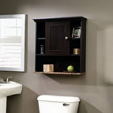 Bathroom Wall Shelves Wood by Bathroom Wall Cabinet With 3 Adjustable Shelves In Cinnamon Cherry