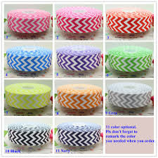 cheap ribbon for sale 1 5 inch free shipping chevron print 11 colors optional printed