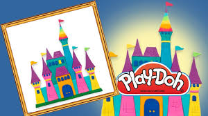 disney castle for kids play doh picture for frame disney rainbow
