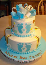 2 Tier Baby Shower Cakes Boy