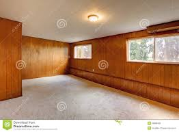 red wood panel walls empty room stock photo image 36868400