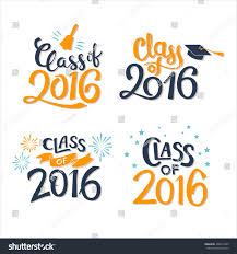 Sample Invitation Card For Graduation Ceremony Set Graduation Labels Vector Isolated Elements Stock Vector