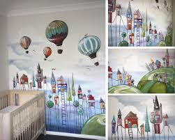 gallery sillier than sally fine art and design sillier than sally cute and quirky village and hot air balloon nursery wall mural