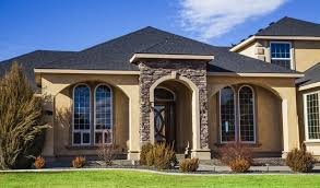 exterior walls with stone and stucco cladding exterior paint