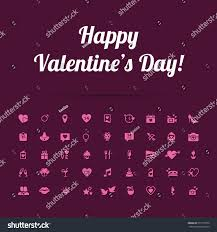 happy valentines day modern flat icons stock vector 557779570