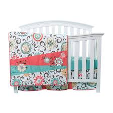 teal crib bedding set amazon com trend lab waverly pom pom play 4 piece crib bedding