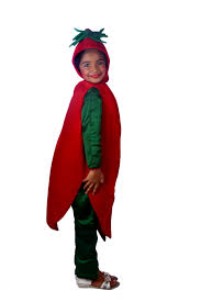 buy red chilli vegetable fancy dress costume for kids u2022 shree