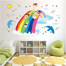 compare prices on kids bedroom wallpaper rainbow online shopping