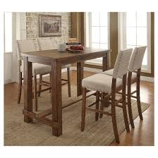 target kitchen table and chairs various sun pine 5pc rustic bar table set natural tone target at