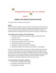 segment two exam review