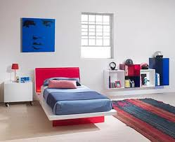 White Childrens Bedroom Shelves Kubika Red And Blue As Interactive Children U0027s Bedroom