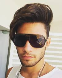 stylish brown short mens undercut hairstyles for long face 2017