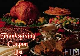 thanksgiving coupon list save big on thanksgiving food items