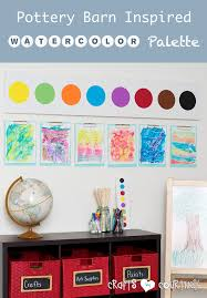 pottery barn knockoff how to make a jumbo watercolor palette