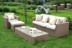 canape de jardin salon canapé de jardin en résine tressée beige 4 pièces canapé de