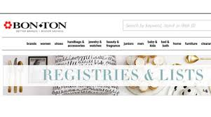 bergners bridal registry list bon ton targets couples with wedding registry app home textiles
