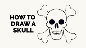how to draw a skull easy step by step drawing tutorial youtube