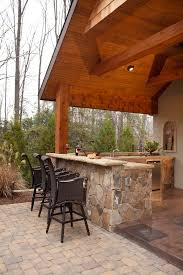 Outdoor Kitchen Covered Patio San Francisco Outdoor Kitchen Bar Patio Tropical With Nickel