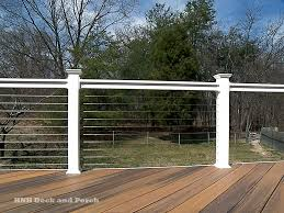 Banister Guard Home Depot Fencing Beautiful Feeney Cable Rail For Deck And Indoors