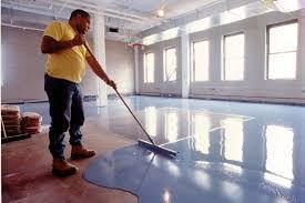 diy painting garage floor coating waterproof epoxy with blue color