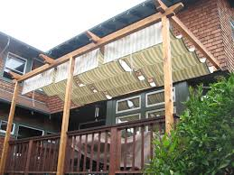 Backyard Shade Canopy by How To Add A Track For A Shade Cloth To A Pergola Pergolas