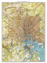 Topographic Map Of Washington by Old Topographical Maps Of Baltimore Md