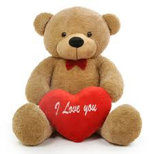 big teddy for s day shaggy l cuddles teddy with i you heart 48in
