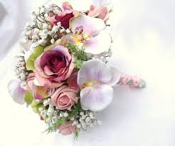 artificial wedding bouquets artificial bridal bouquet malaysia hot sale and white