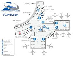 Atlanta Airport Terminal Map Map Of The Terminal Flyphf