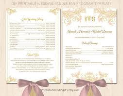 wedding program paddle fan template wedding paddle fan program templates free mini bridal