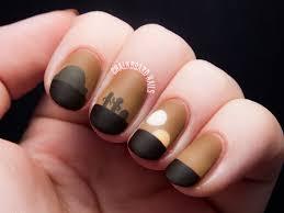 sunset on tatooine star wars nail art chalkboard nails